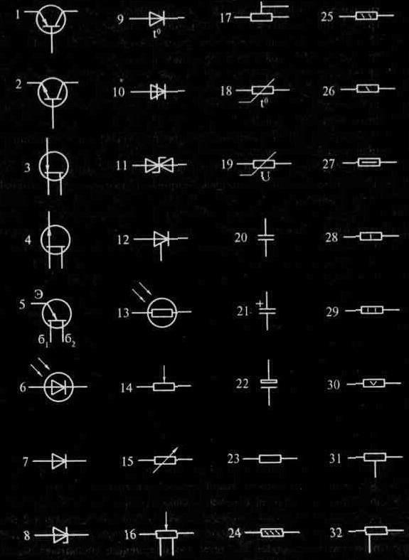УСЛОВНЫЕ ГРАФИЧЕСКИЕ И БУКВЕННЫЕ ОБОЗНАЧЕНИЯ ЭЛЕКТРОРАДИОЭЛЕМЕНТОВПочти все УОС, все изделия радиоэлектроники и...